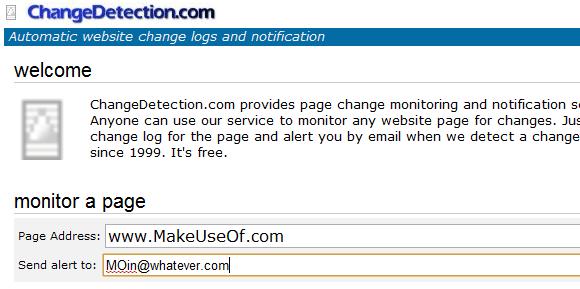 website update alert