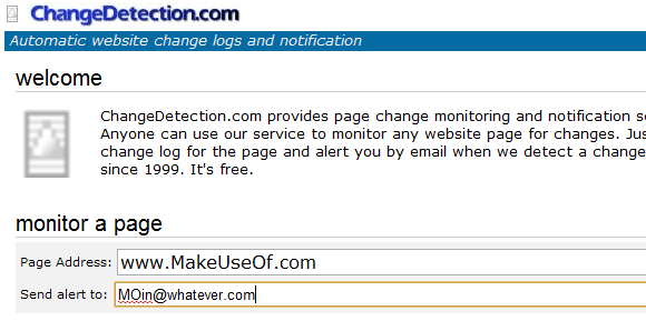 changedetection   ChangeDetection: Get Website Update Email Alerts