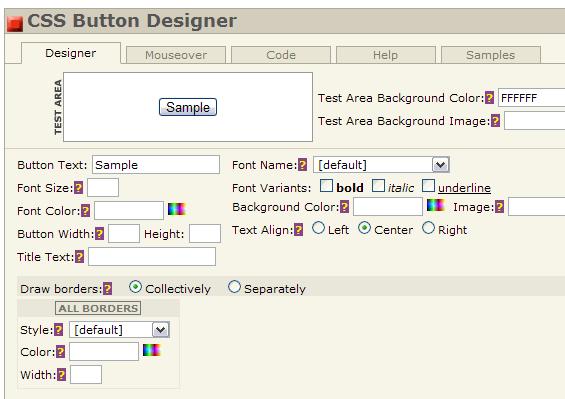 make web buttons online