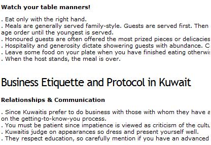 international etiquette tips
