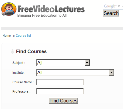 free online video courses from leading universities
