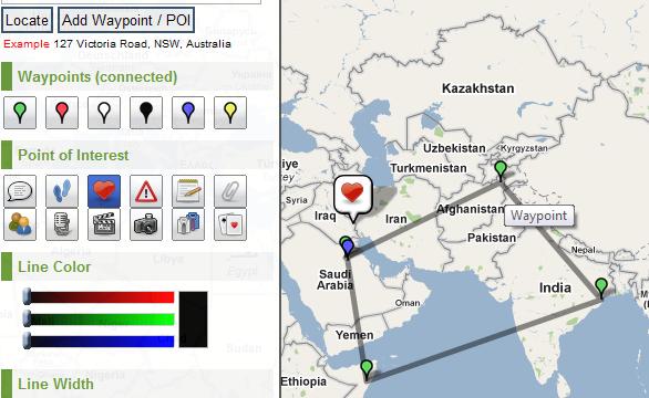 mark map locations