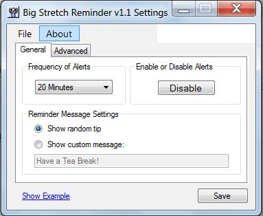 break reminder program