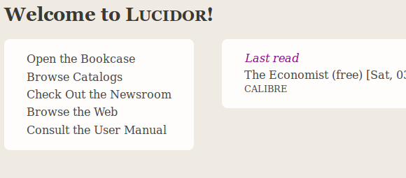 Lucidor - A Clean, Cross-Platform eBook Reader lucidor welcome