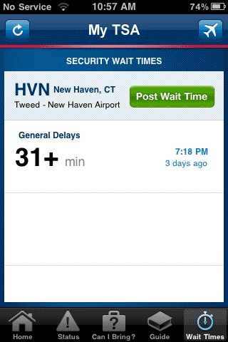 airport waiting times