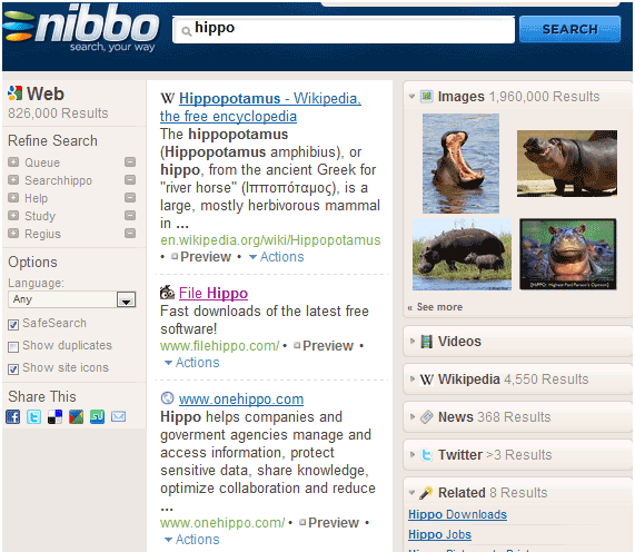 nibbo1   Nibbo: Improved Way To Search Google