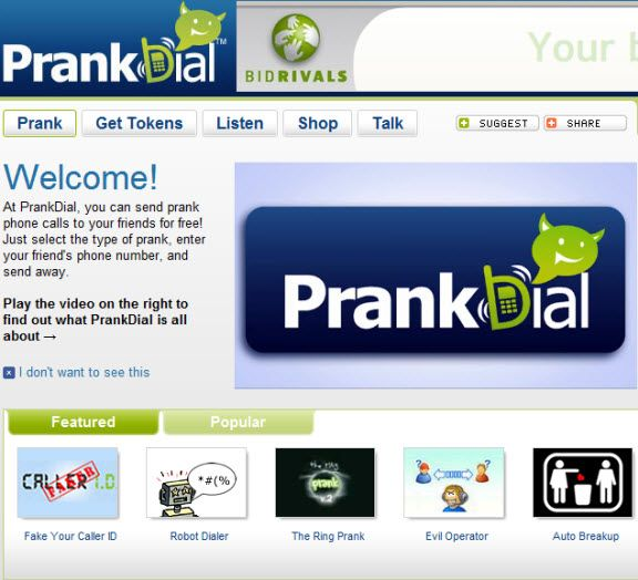 online prank calling