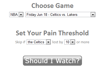 should i watch   Should I Watch: Check If A Past Sports Match Was Worth Seeing