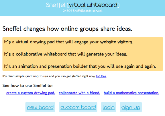 web based whiteboard