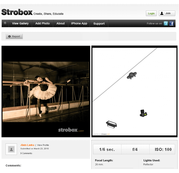 strobox   Strobox: View & Share Photos With Their Lighting Setups