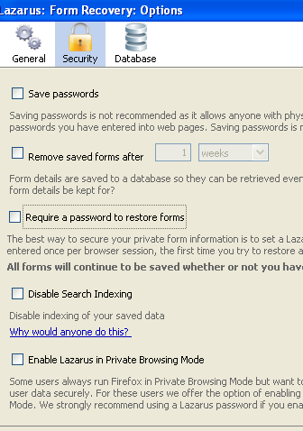 remember form data firefox
