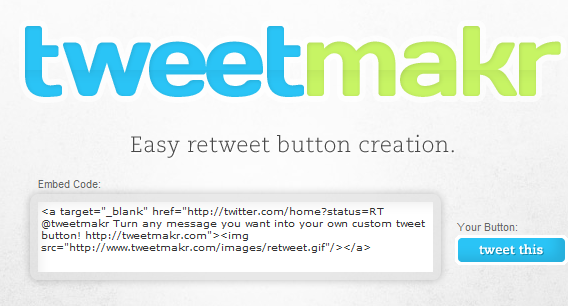 retweet button for blog