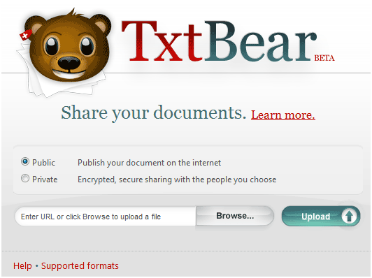share documents on internet