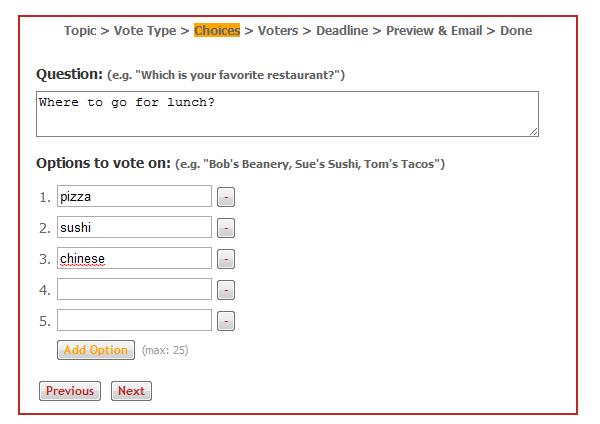 online voting tool
