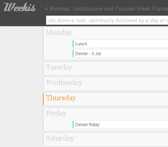 weekly planning tools