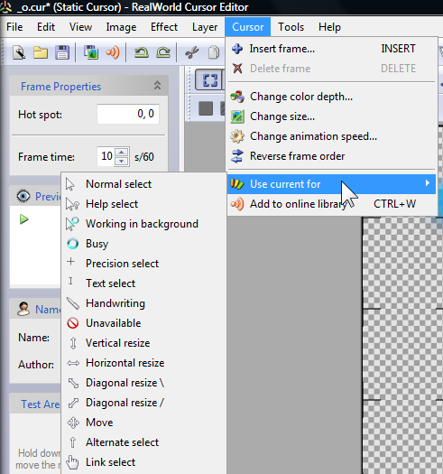 Add Really Cool Cursors To Windows with CursorFX & RealWorld Cursor Editor 131