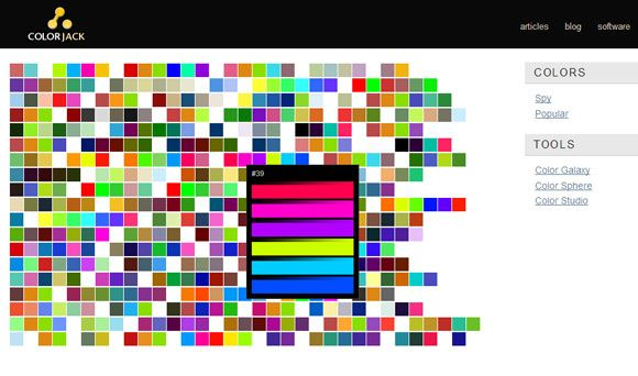 10 Sites to Play with Colors and Create Color Palettes Color palette08