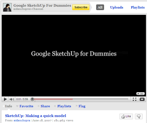 5 Free Tutorial Websites To Improve Your Google SketchUp & 3D Design Skills Google SketchUp04