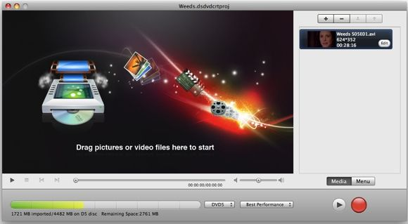 Daniusoft Double Giveaway: Video Converter Ultimate & DVD Creator [Mac] Video Menu
