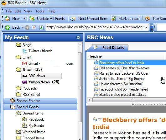 How RSS Bandit Can Feed You Everything You Need Online bandit9 1