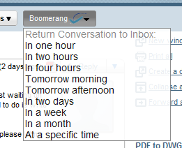 How To Schedule Emails & Delay Replies in Gmail with Boomerang (400 Invites) boomerang3