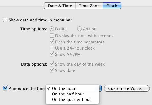 15 More System Preferences Items A New Mac User Should Know About clockannouncement