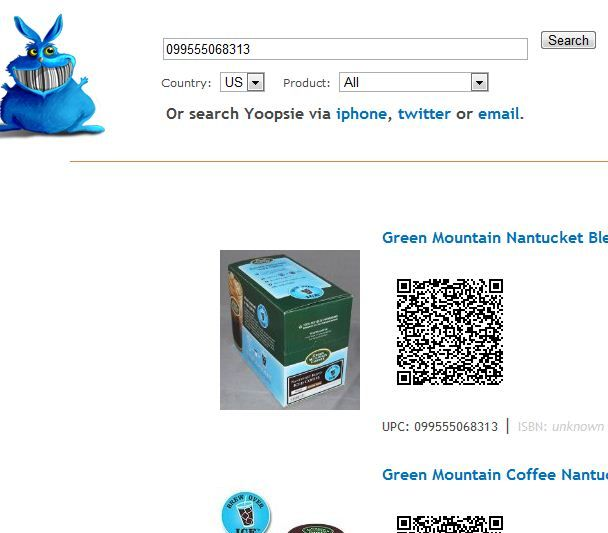 code   Yoopsie: Search for Products By Barcode Or UPC Numbers