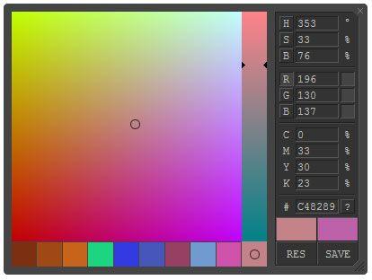 Javascript Colorpicker Easily Get Hsb Rgb Cmyk Or Hex Color Codes