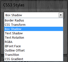css3 styles