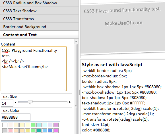 css3playground   CSS3 Playground: Test CSS3 Capabilities & Browser Compatibility