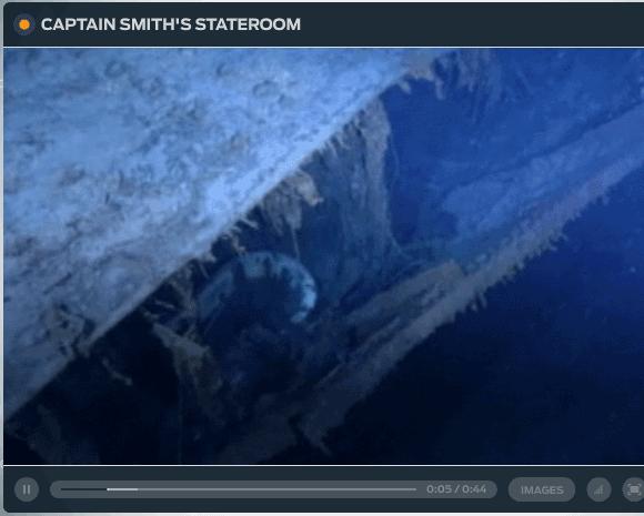 wreckage of titanic