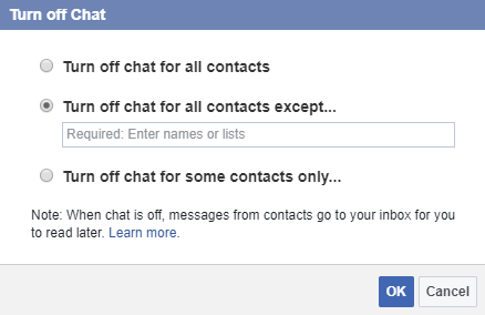 facebook chat turn off