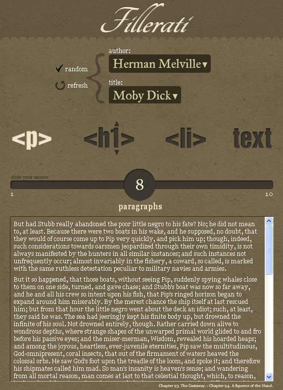 dummy text for web pages