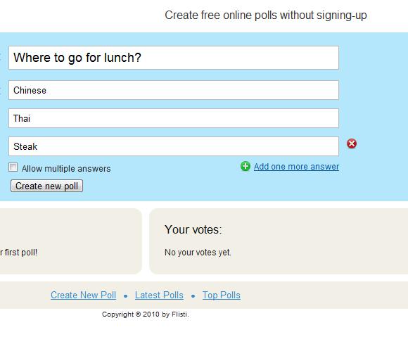 creating online polls