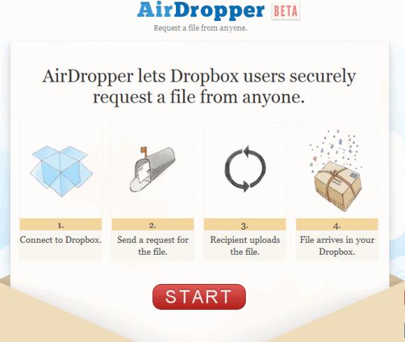 send files to dropbox