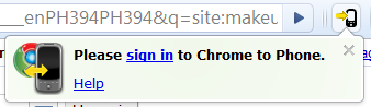 send links from chrome to android