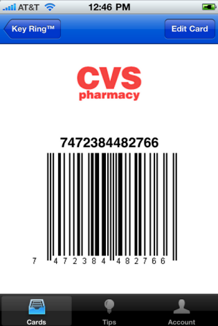 loyalty cards on iphone