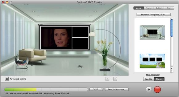 Daniusoft Double Giveaway: Video Converter Ultimate & DVD Creator [Mac] menu