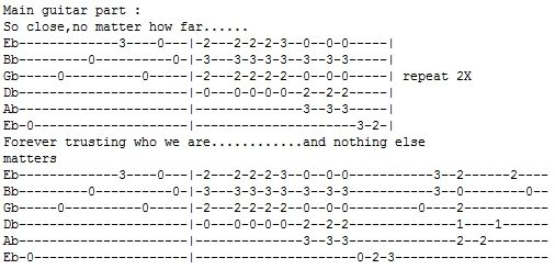 free guitar tablature