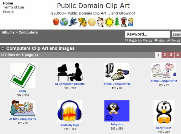 public domain clip art collection