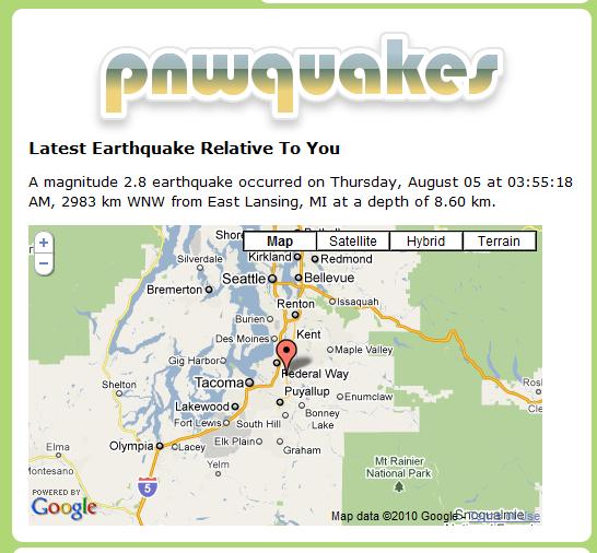 recent earthquake activity