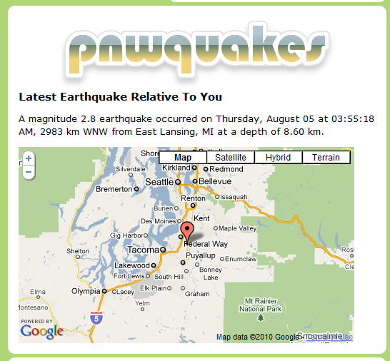 recent earthquake activity
