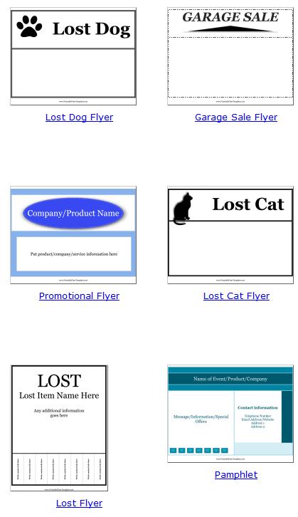 printable flyer templates