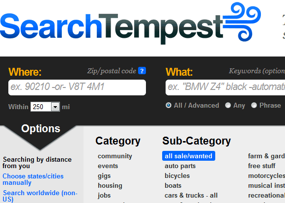 search tempest   SearchTempest: Provides A Better Craigslist Search