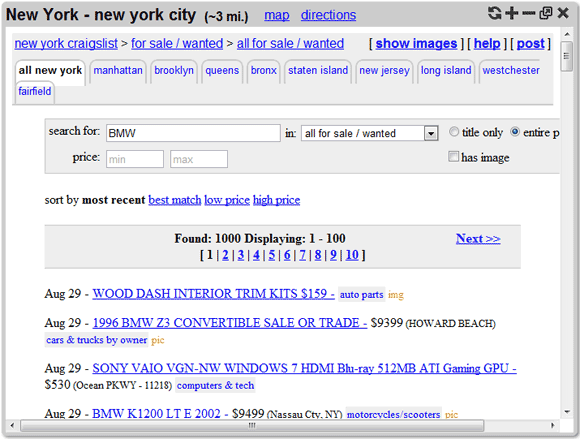 search tempest1   SearchTempest: Provides A Better Craigslist Search