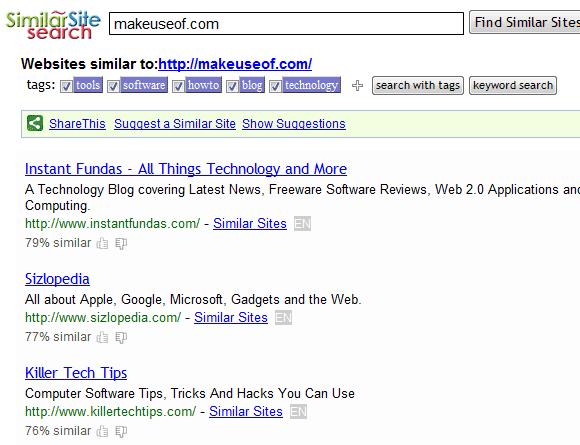 similar websites finder