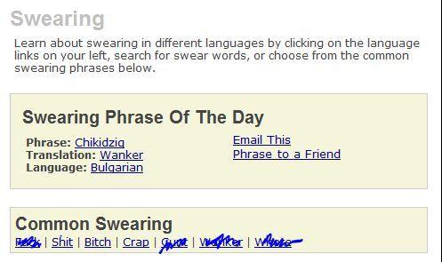 swear words dictionary