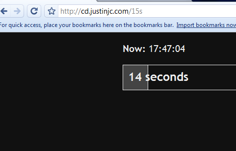 simple countdown timer