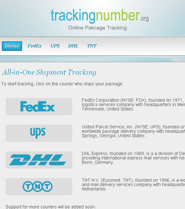 parcel tracking site