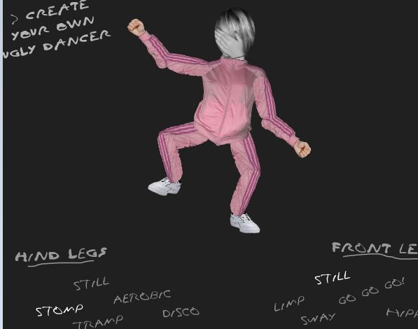 create a dancing character